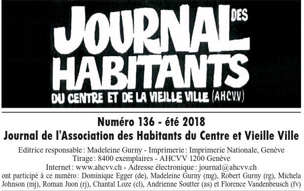 Journal 136 – Été 2018