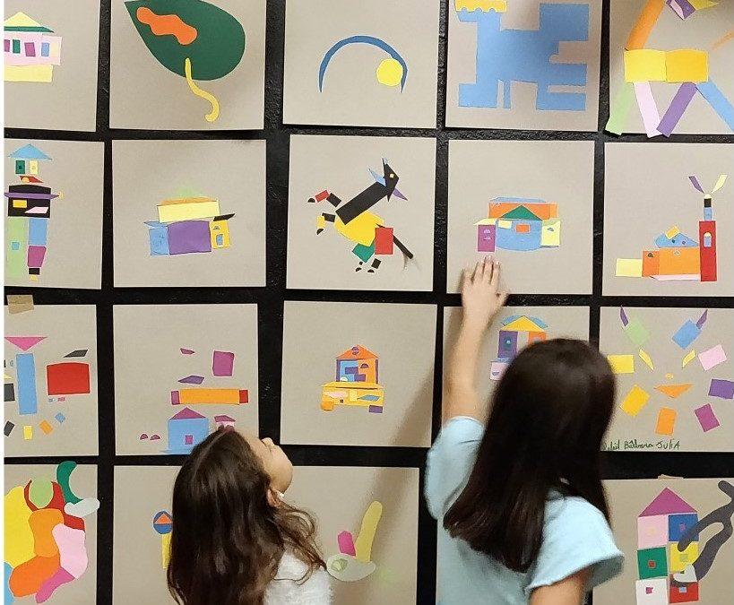 Exposition Les enfants du quartier imaginent le logo de leur maison